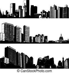 都市, 3, ベクトル, スカイライン