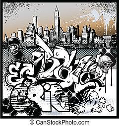 都市 graffiti, 要素, 芸術
