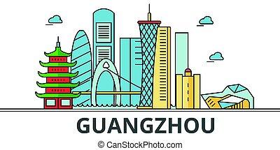 都市, guangzhou, skyline.