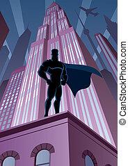 都市, superhero
