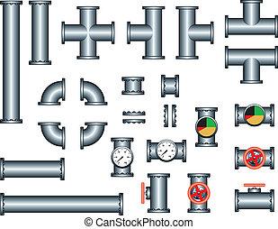 配管, パイプ, コンストラクションセット