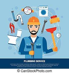 配管, 道具, サービス, 背景