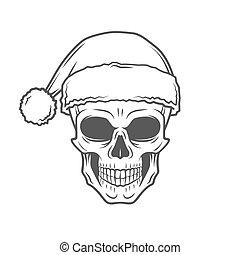 重い, 年, ひどく, 新しい, santa, tシャツ, バイカー, 岩, クリスマス, design., claus, 回転しなさい, 金属, poster., イラスト