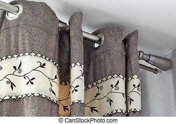 重い, 柵, ring-top, カーテン, 毛織りである