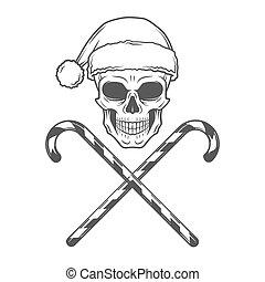 重い, 茎, poster., 岩, claus, 金属, ひどく, キャンデー, クリスマス, tシャツ, バイカー, イラスト, santa, 年, 新しい, 回転しなさい, design.
