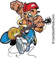 野生, ギター, 岩, プレーヤー