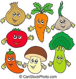 野菜, かわいい, 漫画, コレクション