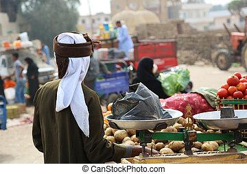 野菜, ルクソール, 売り手
