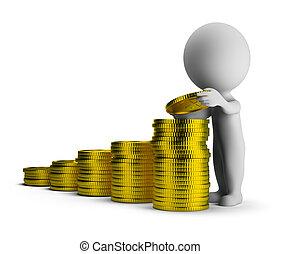 金融の成功, 人々, -, 小さい, 3d