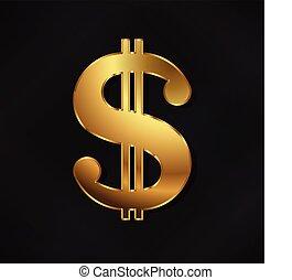 金, ドル, シンボル。, 金, 有色人種