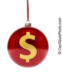 金, ドル, symbol.(series), 形, 安っぽい飾り, 赤