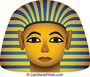 金, ベクトル, ファラオ, マスク, エジプト人