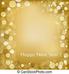 金, ベクトル, 背景, 年, 新しい, 幸せ