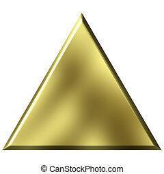金, 三角形, 3d