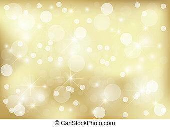 金, 明るい, 点, 背景