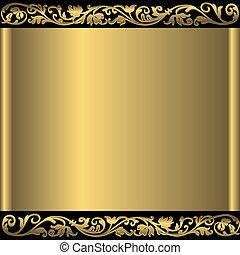 金 背景, 抽象的, (vector)