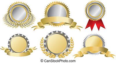 金, 賞のリボン, 銀