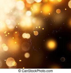 金, 金, 抽象的, バックグラウンド。, bokeh, 黒, ほこり, 上に