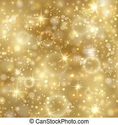 金, twinkly, 星, 背景, ライト