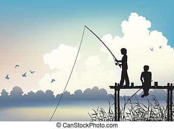 釣り, 現場
