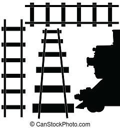 鉄道, 列車, イラスト