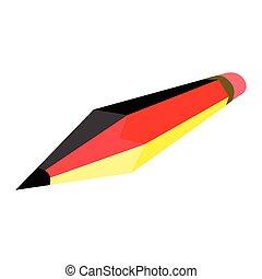鉛筆, 旗, ドイツ
