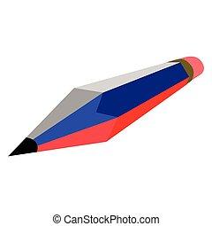 鉛筆, 旗, ロシア