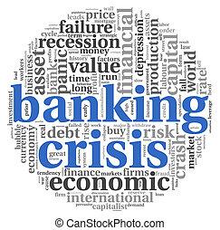銀行業, 白, 概念, 危機