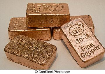 銅, バー, 金塊, 純粋