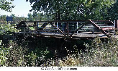 鋼鉄, 橋, 上に, 古い, 入り江