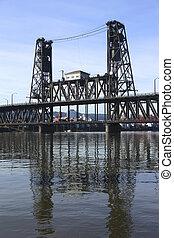 鋼鉄, 橋, vertical.
