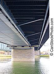 鋼鉄, 1, 下に, 橋