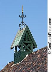 鐘楼, 木製である, ベーン, カード, コンパス, 風