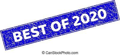 長方形, textured, シール, 切手, 最も良く, 2020, グランジ