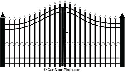 門, ベクトル, シルエット