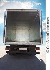 開いた, 容器, トラック