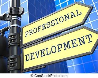 開発, 専門家, concept., 印。, ビジネス