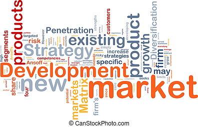開発, 概念, 市場, 背景