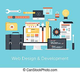 開発, 網の設計