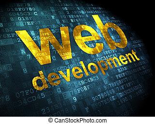 開発, 網の設計, 背景, デジタル, seo, concept: