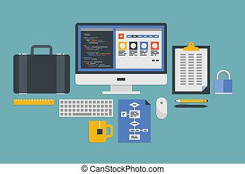 開発, 網, プログラミング