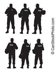 防衛, 警察, 障壁