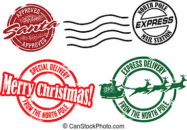 陽気, スタンプ, クリスマス, santa