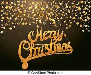 陽気, レタリング, クリスマス, 星