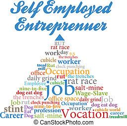 雇われる, 自己, 企業家, 仕事, 職業