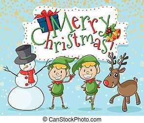 雪だるま, 妖精, クリスマス