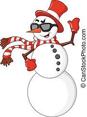 雪だるま, 振ること, 漫画, 手
