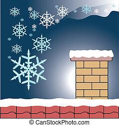 雪片, 煙突