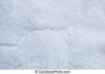 雪, ひび