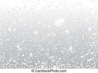 雪, 背景, 抽象的